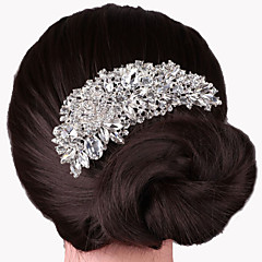 cheap Hair Jewelry-Women's Party Elegant Wedding Crystal Silver Plated Hair Comb