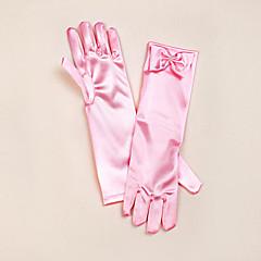satijnen opera lengte handschoen bloemenmeisje handschoenen met boog elegante stijl