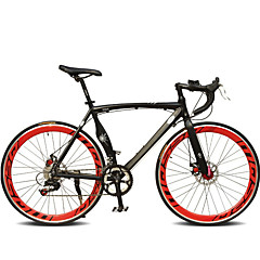 cheap Bikes-Road Bike Cycling 7 Speed 26 Inch / 700CC SHIMANO TX30 Double Disc Brake Ordinary Monocoque Ordinary / Standard Aluminium Alloy / #