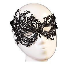 Χαμηλού Κόστους Μάσκες-Απόκριες Μάσκα Ανδρικά / Γυναικεία Halloween Γιορτές / Διακοπές Κοστούμια Halloween Μαύρο Μονόχρωμο / Δαντέλα