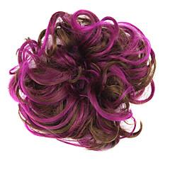 billiga Peruker och hårförlängning-Syntetiska peruker / Chinjonger Klassisk Frisyr i lager Syntetiskt hår updo Brun Peruk Dam Korta Kort / Cosplay Peruk Dagligen / Lockigt