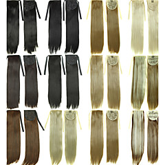 cheap Wigs & Hair Pieces-Clip In Ponytails Synthetic Hair Hair Piece Hair Extension Curly