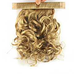 cheap Wigs & Hair Pieces-Clip In Ponytails Elastic Wrap Around Synthetic Hair Hair Piece Hair Extension Curly