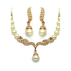 Women's Jewelry Set Basic Imitation Pearl Bridal Costume Jewelry Imitation Pearl Jewelry Earrings Necklace For Wedding Party Daily Casual