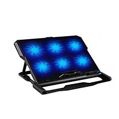 tanie Chłodzenie laptopa-Sześć wentylatorów chłodnicy ergonomiczna podkładka chłodząca z mocowaniem Stojak na laptopa notebooka
