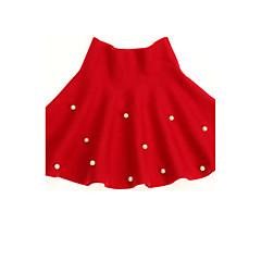 baratos Roupas de Meninas-Menina de Vestido Diário Poá Inverno Primavera Outono Lã Pontos Vermelho
