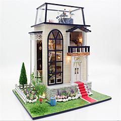 역할 놀이 DIY 키트 인형의 집 장난감 장미 성 집 나무 1 조각 크리스마스 생일 어린이날 선물