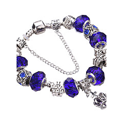 cheap -Women's Charm Bracelet Bangles Silver Bracelets Strand Bracelet Crystal Beaded European Durable Fashion Adorable Acrylic Rhinestone