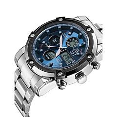 ASJ Herre Sportsklokke Selskapsklokke Moteklokke Digital Watch Armbåndsur Japansk Quartz DigitalLCD Kronograf Vannavvisende Dobbel