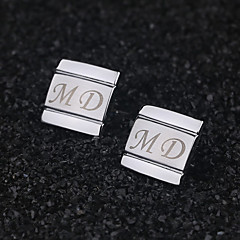 cheap Groom Gifts-Zinc Alloy Cufflinks & Tie Clips Groom Groomsman Wedding Anniversary Birthday