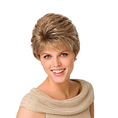cheap Wigs & Hair Pieces-Synthetic Wig Women's Straight / Natural Wave Golden Asymmetrical Synthetic Hair Natural Hairline Golden / Blonde Wig Short Capless Golden Blonde