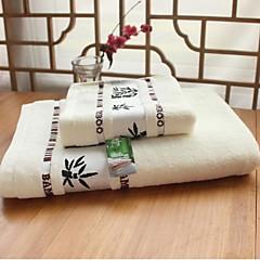 billiga Handdukar och badrockar-Färsk stil Badhandduk set, Jacquard Överlägsen kvalitet 100% Bambufiber Vävt Jacquard Handduk