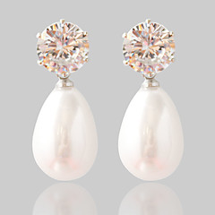 cheap Earrings-Women's Fashion Alloy Oval Jewelry Wedding Party Costume Jewelry