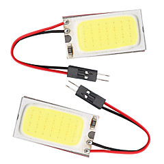 10pcs t10 cob 21 SMD LED lys panel bil auto interiør lesing kartet parkering pære lampe BA9S girlander dome (DC12V)