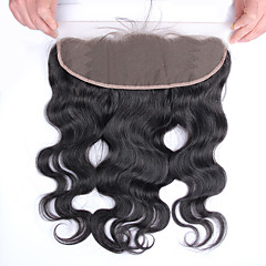 cheap Closure & Frontal-brazilian virgin hair body wave 13 x4 lace frontal closure 8 20 inch free part bleached knots baby hair