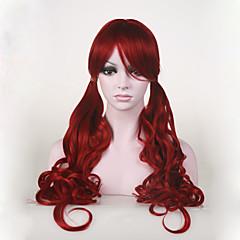 billige Kostymeparykk-Syntetiske parykker / Kostymeparykker Bølget Syntetisk hår Rød Parykk Dame Cosplay-parykk Lokkløs