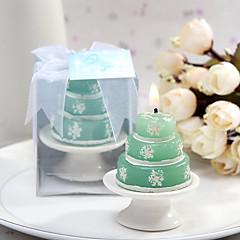 4box / sett - snøflake stearinlys med keramisk lysestake beter gaver ® bryllupsfavør