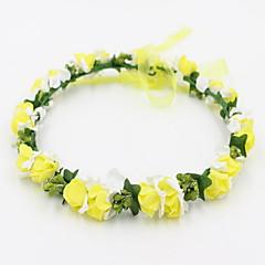 billige Hår Smykker-Dame Pige Blomster Sødt Smuk Sød Hårbånd - Blonde Legering Blomst