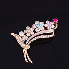 jeden kus / růžový zlatý módní brože klasický ženský styl