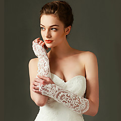 kant elleboog lengte handschoen bruids handschoenen klassieke vrouwelijke stijl