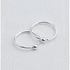 Naisten Korvarenkaat Muoti pukukorut Sterling-hopea Circle Shape Round Shape Korut Käyttötarkoitus Päivittäin Kausaliteetti