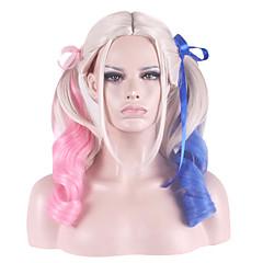 billiga Peruker och hårförlängning-Syntetiska peruker / Kostymperuker Vågigt Syntetiskt hår Blond Peruk Dam Kostym Peruk / Halloween Paryk / Karneval peruk Utan lock