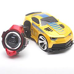 RC Car JJRC 2.4G Buggy Akıllı İzle Ses Kontrolü RC Araba 1:24 Fırçasız Elektrik 30 Km / H Uzaktan Kontrol Şarj Edilebilir Elektrik Ses
