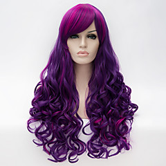 cheap Wigs & Hair Pieces-cosplay wig wind lolita lolita multi color gradient wig daily wig synthetic wigs Halloween