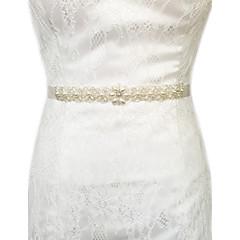 Satin Wedding Party/ Evening Dailywear Sash With Crystal Beading Pearls