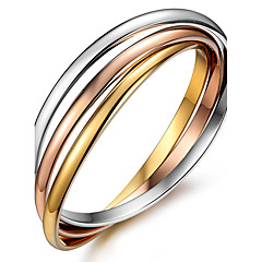 Fashion Bangles For Women Stainless Steel Bracelet Tricolor Tricyclic Set Bracelet Friendship Bracelets l Christmas Gifts