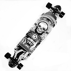 41 Inch Longboards Skateboard Professional Maple ABEC-9-Green Blue Black with White Orange/Black Gray Black Skull