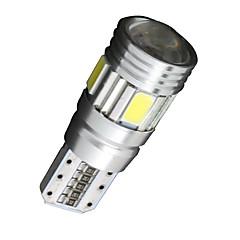 billige Kjørelys-SO.K 10pcs T10 Bil Elpærer 2W W SMD 5630 200lm lm 6 LED Blinklys ForUniversell