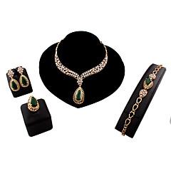 baratos Conjuntos de Bijuteria-Mulheres Link / Corrente Conjunto de jóias - Importante, Vintage, Europeu Incluir Verde Para Casamento Festa Diário / Brincos / Colares / Bracelete