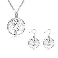 Women's Jewelry Set Necklace/Earrings Fashion European Daily Casual Sterling Silver Silver Plated Earrings Necklaces