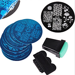 baratos Cuidados de Unhas-12 pcs Placa de Carimbar Modelo Nail Art Design Design Moderno Estiloso / Fashion Diário / Metal