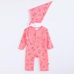 billige Babytøj-Overall og jumpsuit Daglig Bomuld Efterår Lys pink