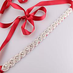 sateng bryllupsfesten / kveld daglig klær sashes med rhinestone krystall beading