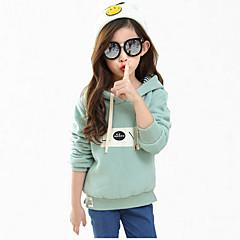 tanie Odzież dla dziewczynek-Dzieci Dla dziewczynek Kwiaty Nadruk Długi rękaw Bluzy