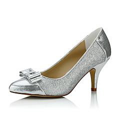 olcso -Kényelmes-Stiletto-Női cipő-Magassarkúak-Esküvői / Ruha / Party és Estélyi-Glitter-Ezüst