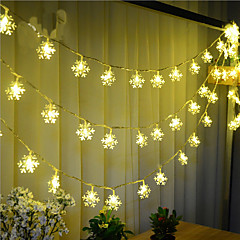 100-LED 10M Snow Light Waterproof Plug Outdoor Holiday Decoration Light LED String Light