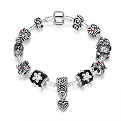 billige -Dame Sølv Sølvbelagt Strand Armbånd - Folk Style Mode Europæisk Med perler Geometrisk form Sølv Armbånd Til Fest Daglig Afslappet