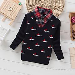 billige Sweaters og cardigans til drenge-Baby Drenge Afslappet / Hverdag Geometrisk Langærmet Normal Kashmir / Uld Trøje og cardigan Sort