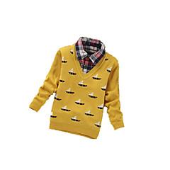 billige Sweaters og cardigans til drenge-Drengens Trøje og cardigan Kashmir / Uld Geometrisk Casual/hverdag Vinter / Forår / Efterår Sort / Gul / Grå