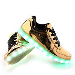 Homens Sapatos LED Couro Ecológico Primavera / Outono Conforto / botas de desleixo Tênis Antiderrapante Dourado / Prata