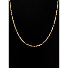 Жен. Ожерелья-цепочки Бижутерия Серебрянное покрытие Позолота Простой стиль бижутерия Бижутерия Назначение Свадьба Для вечеринок