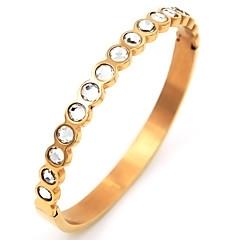 נשים צמידים תכשיטי יוקרה פלדת על חלד ציפוי זהב יהלום מדומה תכשיטים עבור Party אירוע מיוחד יום הולדת יומי קזו'אל
