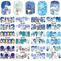 12 designs ,12 different images Nail Art matrica Víz Transfer Matricák smink Kozmetika Nail Art Design