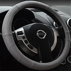billige Rattovertrekk til bilen-svart rød tråd med g skinn ratt