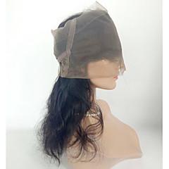 billiga Peruker och hårförlängning-360 Frontal Kroppsvågor 360 Fasad Schweizisk spetsperuk Äkta hår Fria delen