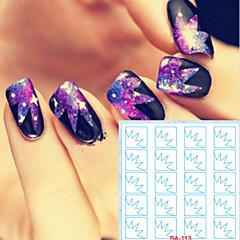 billige Negleklistremerker-5 Nail Art klistremerke Diecut Manikyr Stencil makeup Cosmetic Nail Art Design